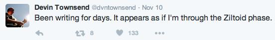 Devin Townsend tweet